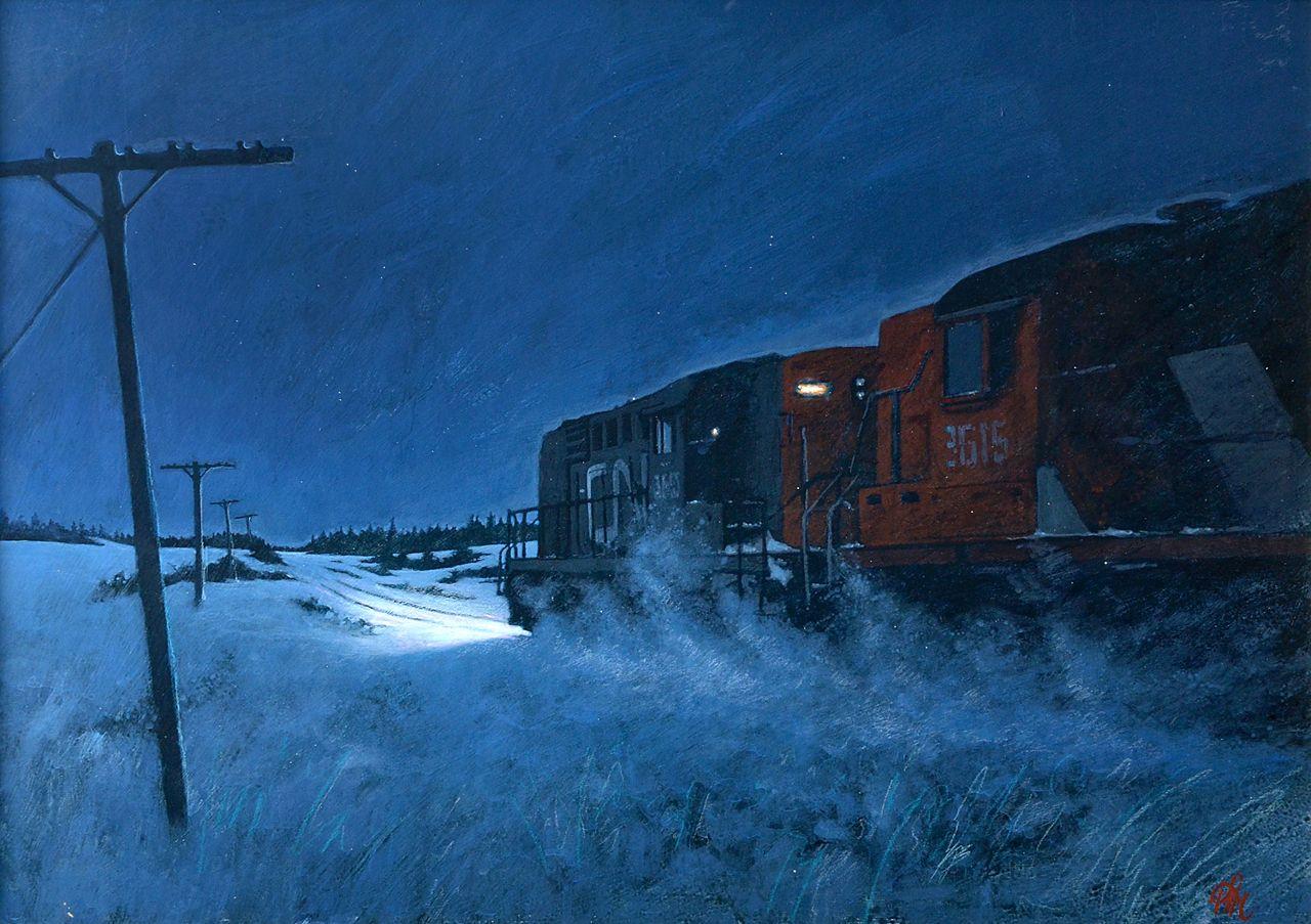 Pim Sekeris - Night Train | Peinture | Pinterest | Landscaping