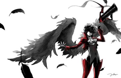 Persona 5 Protag X Arsene Print From Mikaron Persona 5 Persona 5 Joker Persona Five