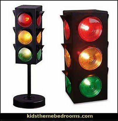 Traffic Light Signal Lamps Transportation Theme Bedroom Decor Kids