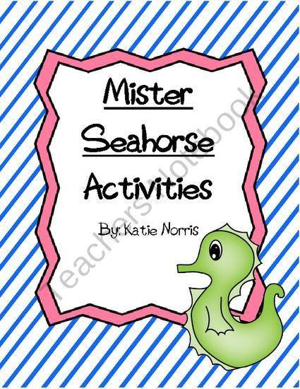 mister seahorse eric carle vocabulary