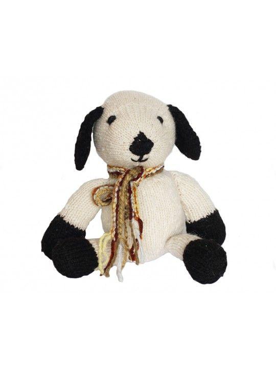 Knithitkit koira -  Neulo itsellesi suloinen pehmolelu kenialaisesta villasta! DIY knitting kit #DIY #gift