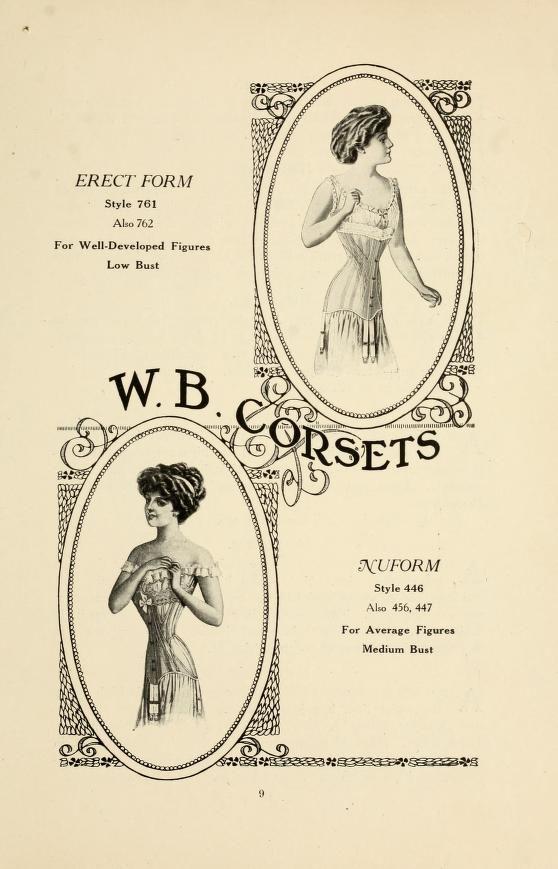 Catalog : W.B. corsets : erect form, nuform, re...