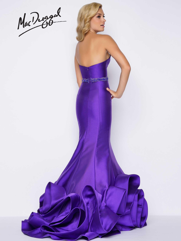 Royal Purple Strapless Sweetheart Neckline Satin Ruffled Mermaid Prom Dress With Beaded Belt Mermaid Prom Dresses Dresses Prom Dresses Long [ 3070 x 2304 Pixel ]