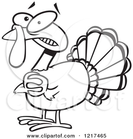 Royalty Free Clipart Illustration Of An Outlined Scared Cartoon