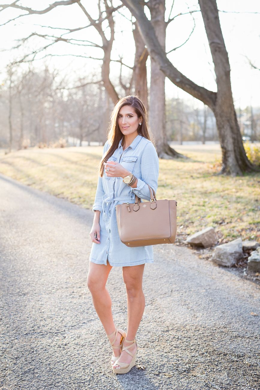 1e500c79b2b6 Chambray Shirt Dress