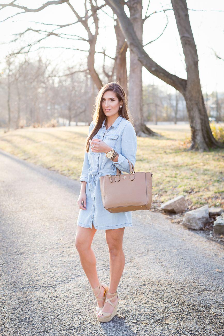 91a82b638c2 Chambray Shirt Dress