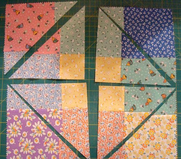 9 patch quilt block criss cross cut