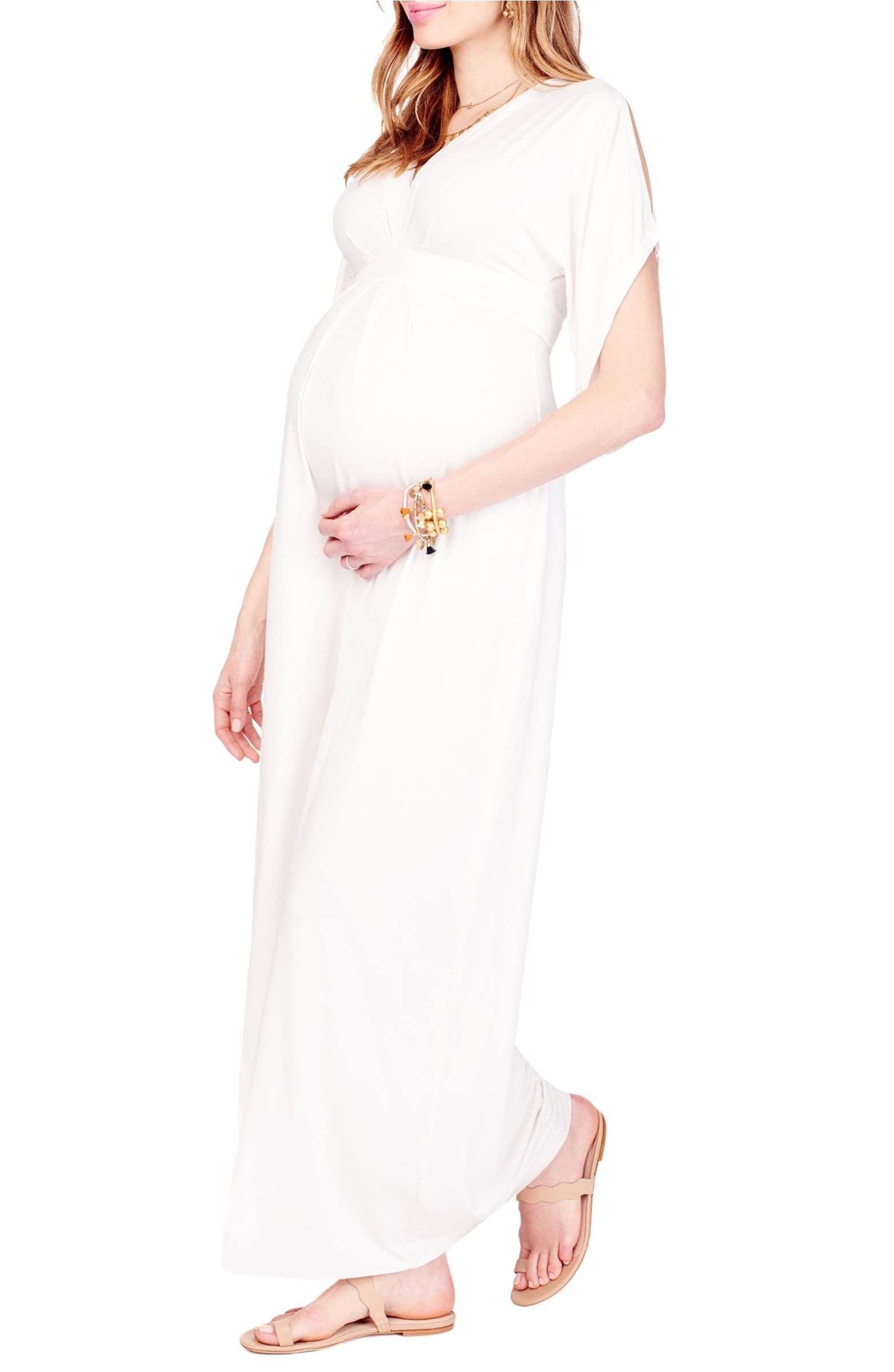 013123f1be9be Main Image - Ingrid & Isabel Split Kimono Sleeve Maternity Maxi Dress
