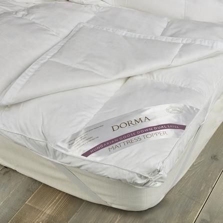 Dorma Hungarian Goose Down Dual Layer Mattress Topper Mattress Covers Best Mattress Mattress
