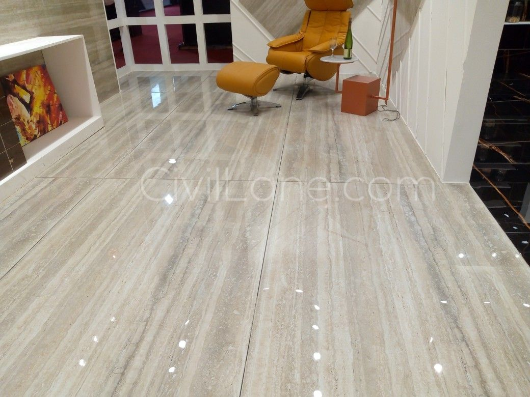 Big size tiles with italian look for living room ans