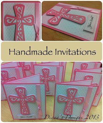 Handmade Invitations in Pink Cricut wedding Cricut and Cards