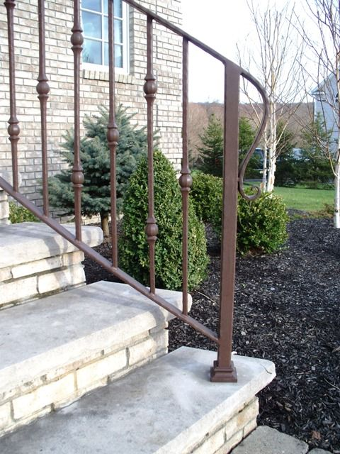 Decorative Wrought Iron Handrail