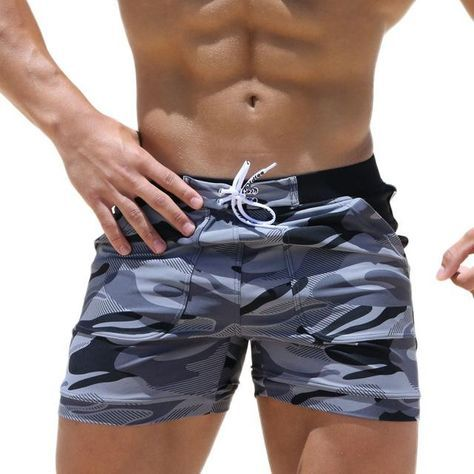 SS-19 Mens Boxer Camouflage Swimwear