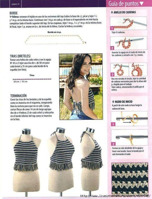Crochet Top | Pinterest | Blusas tejidas, Mallas y Ponchos