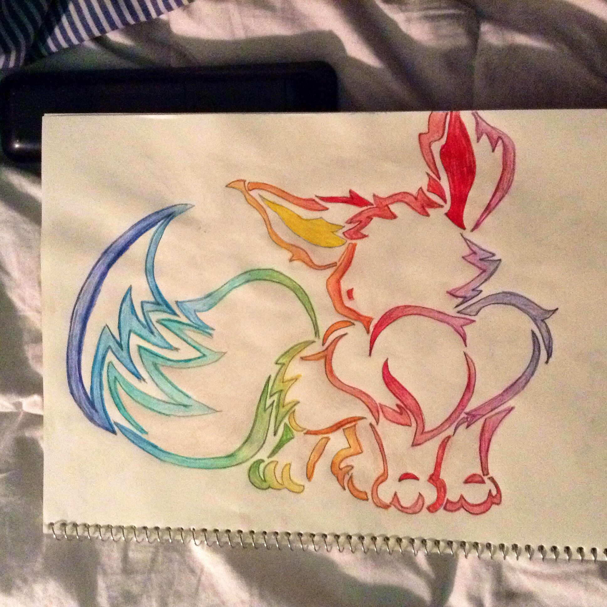 I just drew up this Eevee tattoo for Pokemon fans... Don't know if I like it or…