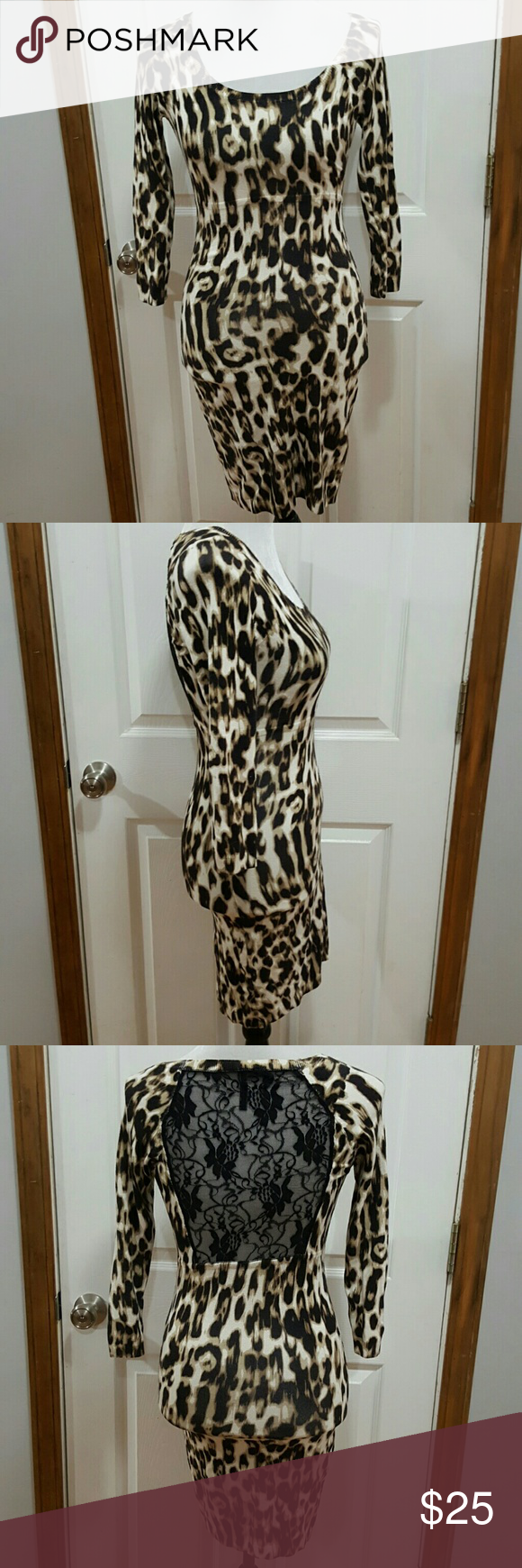 0c2fc3e659 Guess Los Angeles Animal Print Knit Bodycon Dress Guess Los Angeles Animal  Print Knit Bodycon Dress