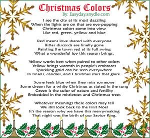 Religious Christmas Poems Poem Holidays And Sunday School - Is A Christmas Tree Religious