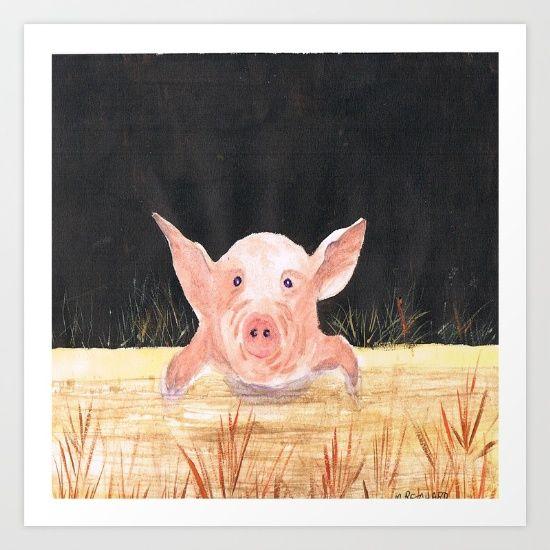 This+Little+Piggy+Art+Print+by+Mindyrdesigns+-+$13.00