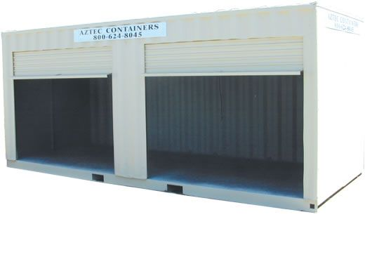 20 foot Storage Containers with 2 roll up doors for Rent Sale