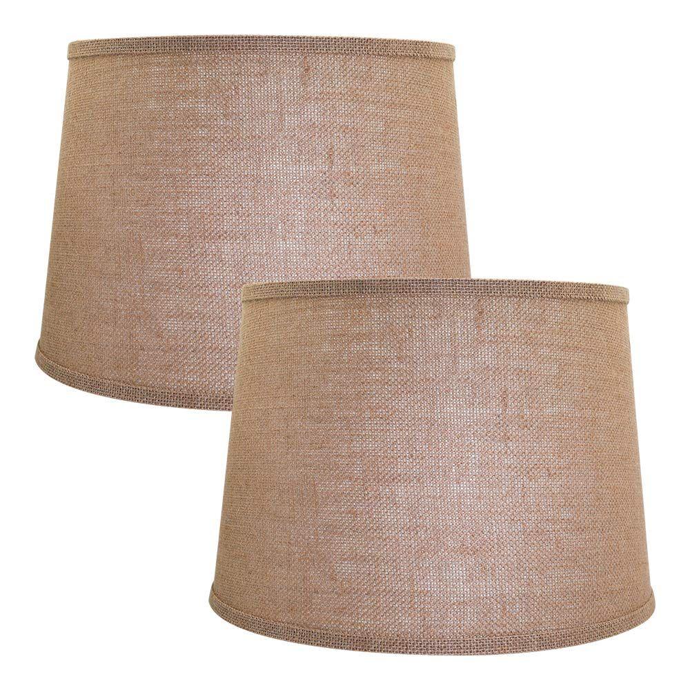 Double Medium Brwon Lamp Shades Set Of 2 Click On The Image
