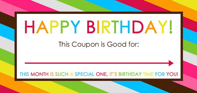 Free Printable Birthday Coupons Party Time Birthday Coupons