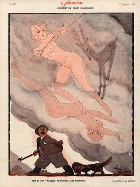 Illustration by Sacha Zaliouk For Le Sourire 1929