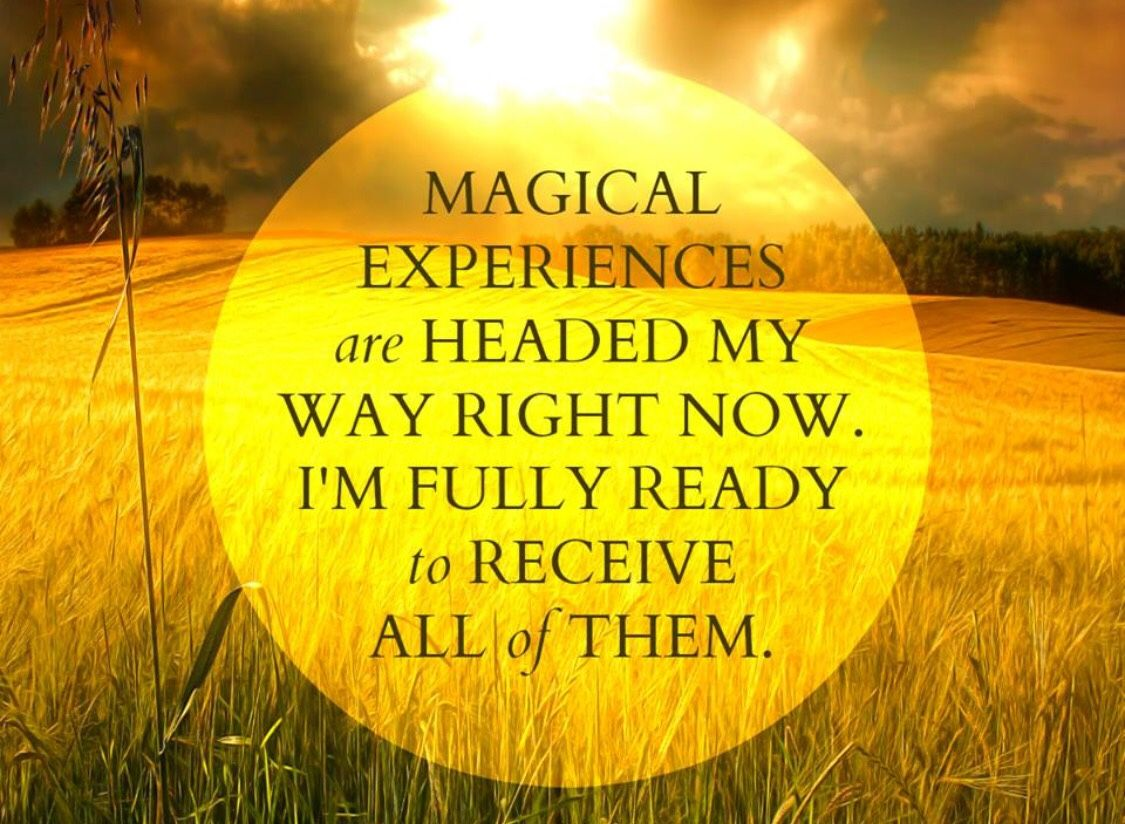 Magical experiences are headed my way ❤️☀️