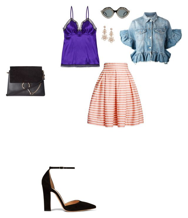 """""""Untitled #2764"""" by anamaria-zgimbau ❤ liked on Polyvore featuring Eres, MSGM, Rumour London, Gianvito Rossi, Chloé, Gucci and Kate Spade"""