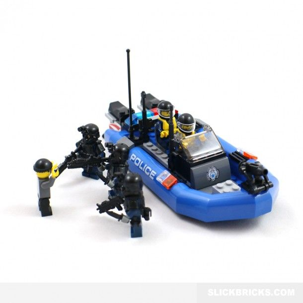 Police Boat and SWAT Minifigures - Lego Compatible | Nickus