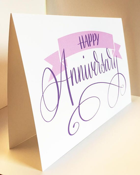 Happy Anniversary Card, Greeting Card, Anniversary, Calligraphy