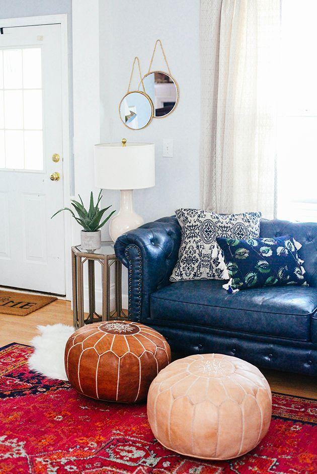 Navy As Neutral Living Room Sofa Living Room Remodel