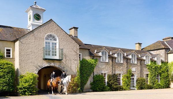 Mount Juliet Estate- riding out from the Hunters Yard in Ireland