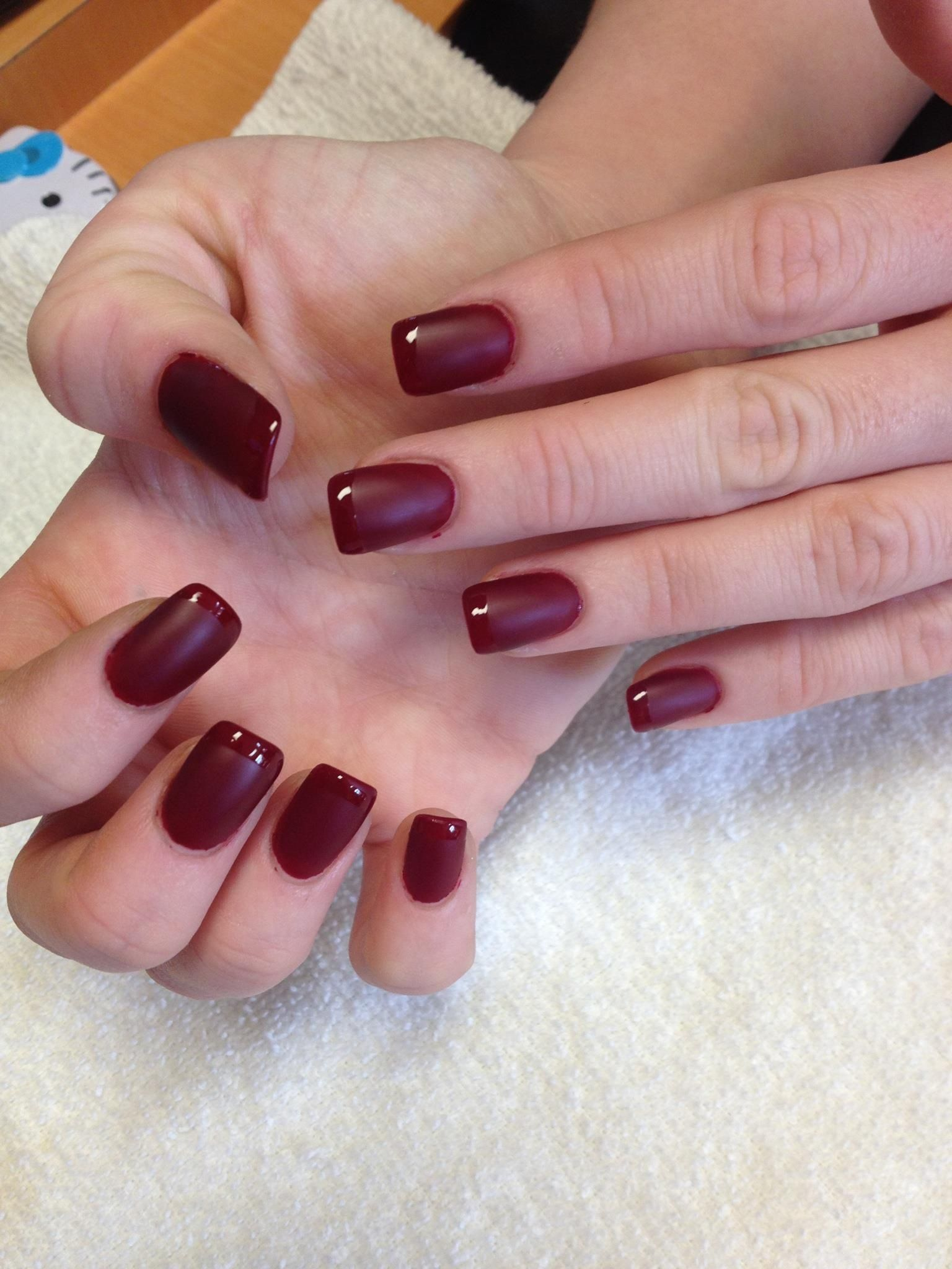 Aliexpress.com : Buy Brown White border French Nails