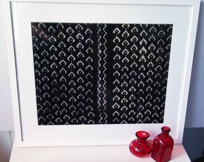 Black Diamond Print Hand-dyed African Mudcloth Framed Wall Art, wall ...