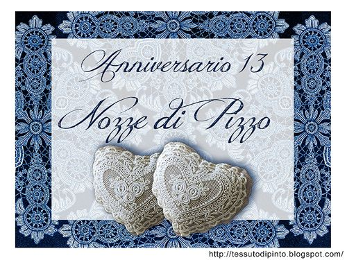 Cartoncino auguri 13 anni di matrimonio nozze di pizzo for Frasi di auguri 25 anni di matrimonio