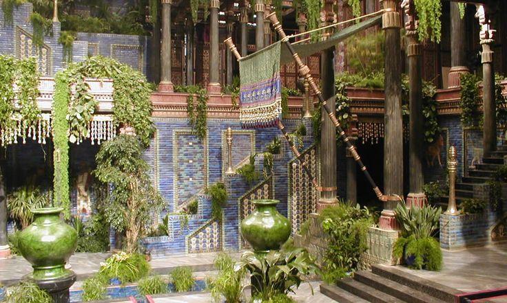 Babylonian Courtyards Hangender Garten Bilder Fantasielandschaft