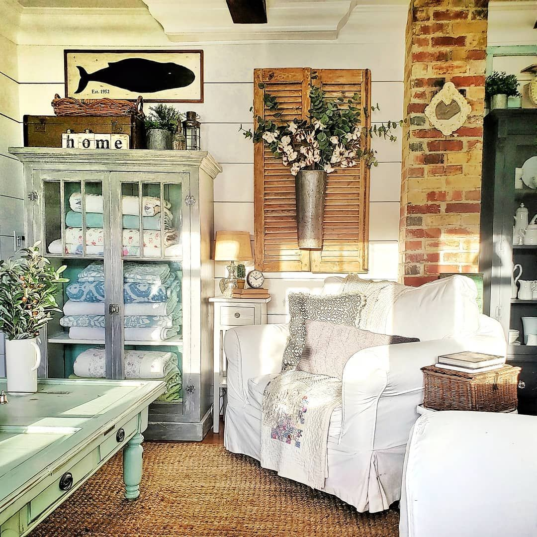 pin on farmhouse cottage living room