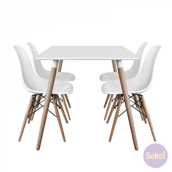 Varberg Collection Dining Package 9515 White Dining Chairs