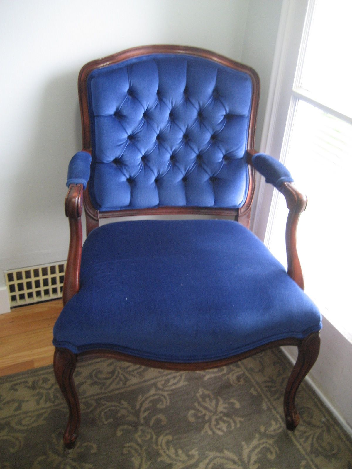 Charmant I Have A Chair Iu0027m Going To Have Recovered In Blue Velvet