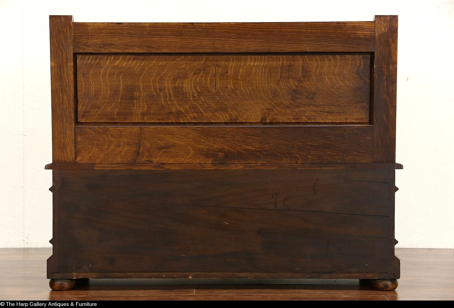Enjoyable Carved Oak 1890S Antique Hall Bench Lift Seat Storage Spiritservingveterans Wood Chair Design Ideas Spiritservingveteransorg