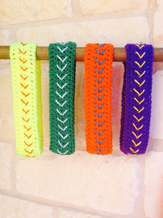 YOUR COLORS- Softball Headband, Crochet Headband, Softball Ear ...