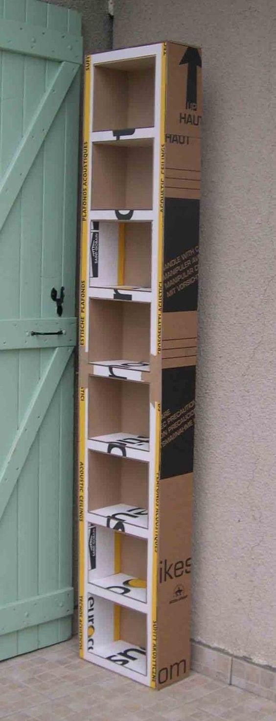 Tutoriel: Comment fabriquer un meuble en carton #cardboardshelves