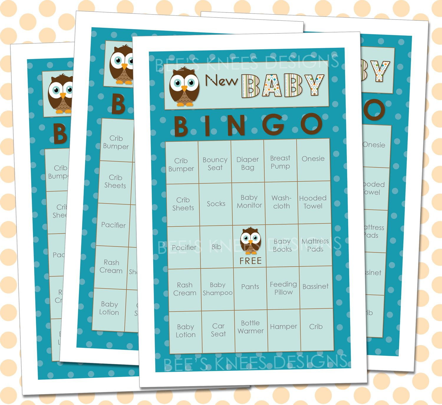 Baby shower bingo owl themed you print 699 via etsy create baby shower bingo owl themed you print 699 via etsy solutioingenieria Gallery