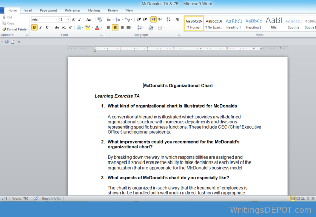 what type of organisation is mcdonalds