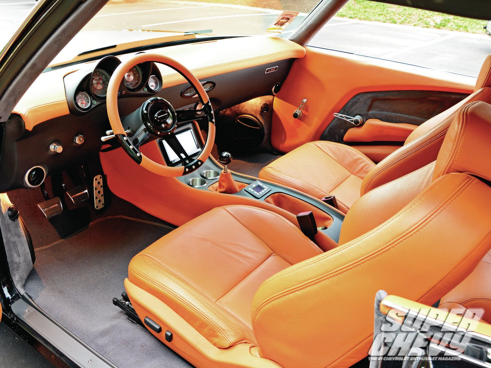 1970 chevrolet chevelle ss interior photo 6 custom dash and console door panels brown orange [ 1600 x 1200 Pixel ]