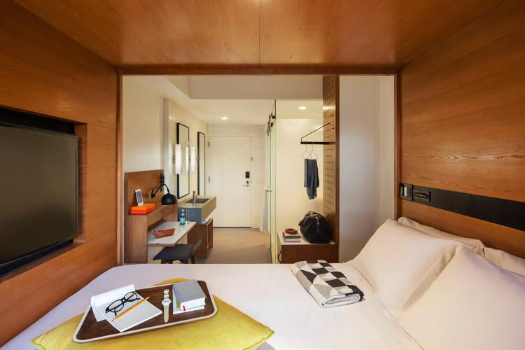 The Micro Living Trend Checks Into Hotels Hotel Room Design Bedroom Design Small Bedroom Designs