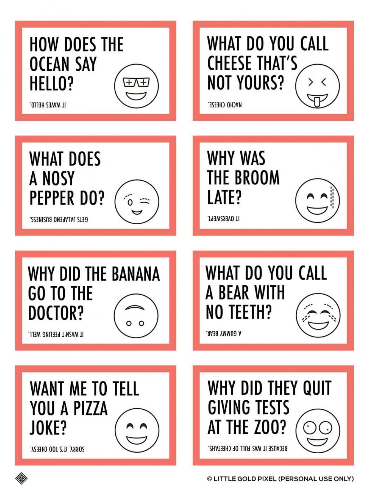 Lunch Joke Notes For Kids
