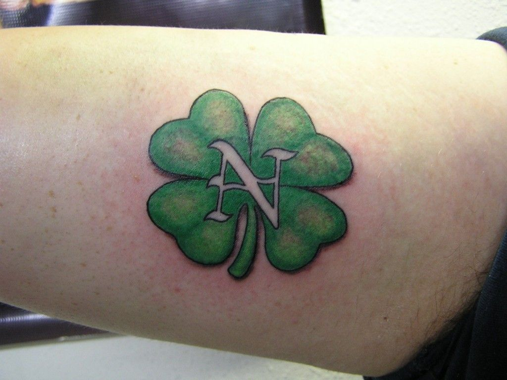 Irish tattoo designs for men - Celtic 4 Leaf Clover Tattoos Four Leaf Clover Tattoos Designs Ideas And Meaning