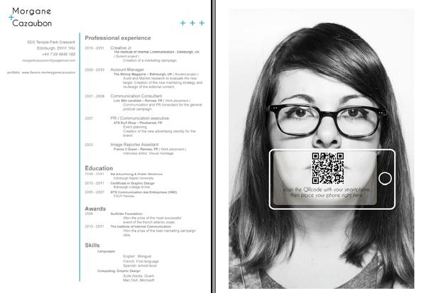 Qrcode Cv On Behance Best Resume Infographic Resume Resume