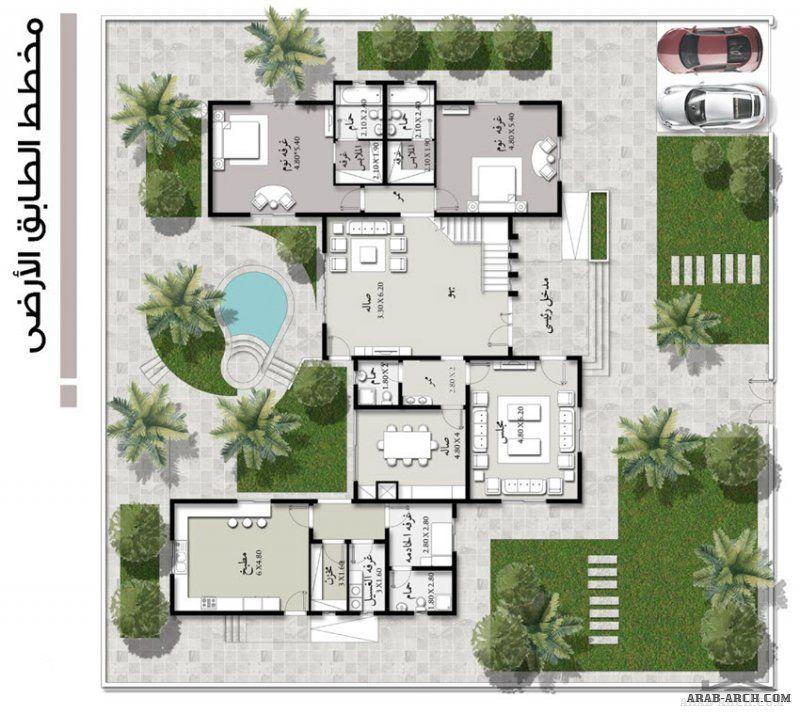 نماذج المساكن Szhp 06 01 الشيخ زايد للاسكان 552 متر مربع